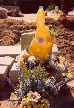 Grave with Styrofoam Rabbit, Hale County, Alabama, 1977