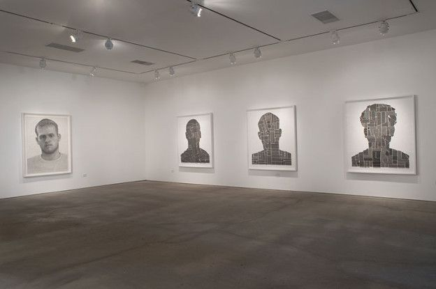 Ben Durham Text Portraits​, installation view