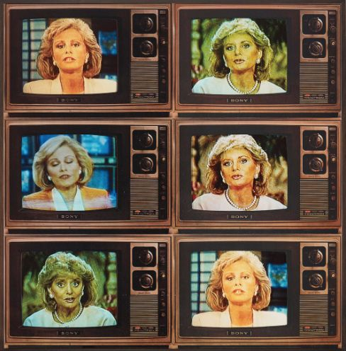 T.V. Network Newsomen Corresponding (Barbara Walters and Faith Daniels), 1986