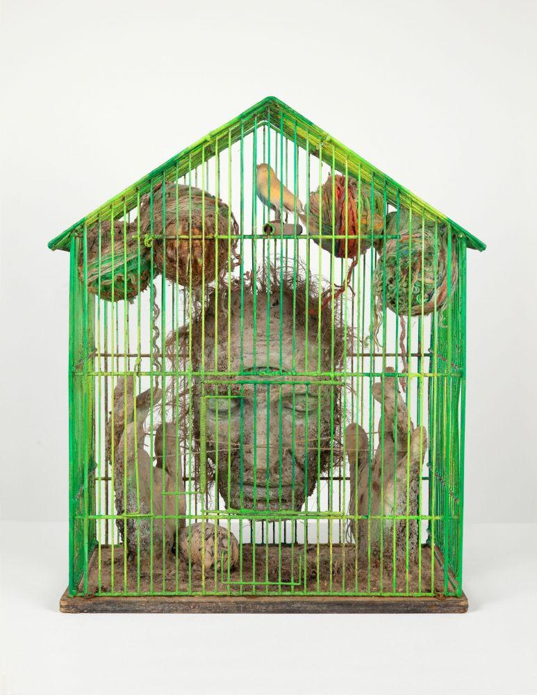Tetsumi Kudo, Portrait of the Artist, Buddha in Paris (Meditation enter future program et memoire enregisttree)(Portrait of the Artist, Buddha in Paris [Meditation between the programmed future and recorded memory]), 1976