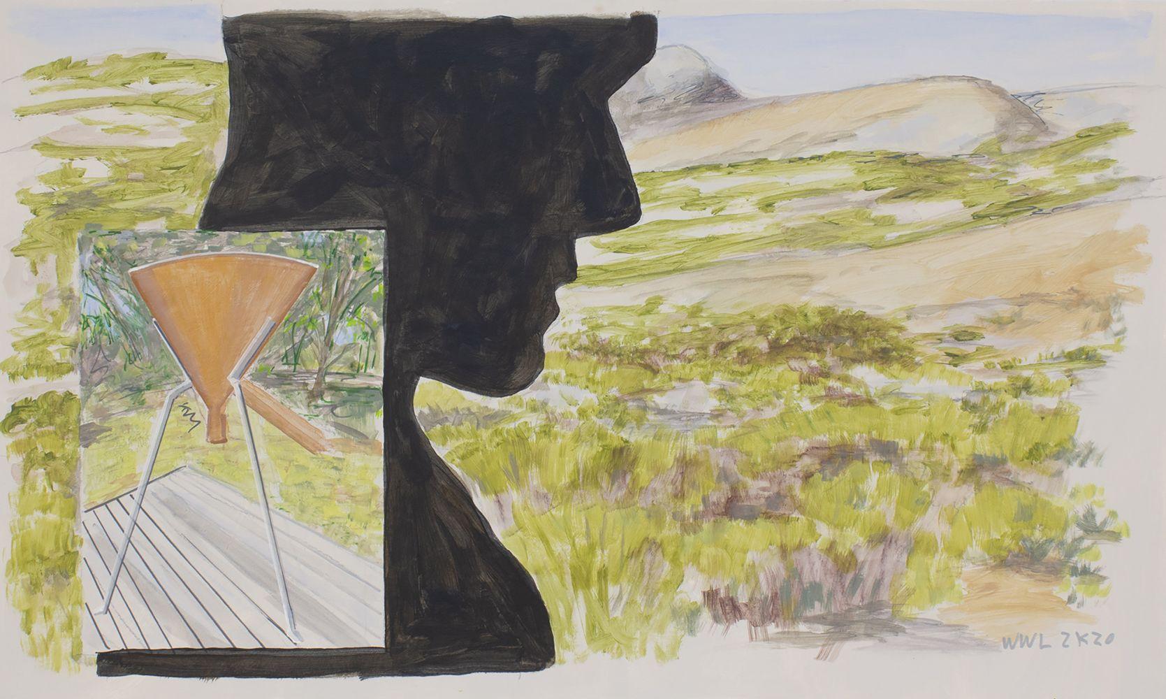 William Leavitt, Copper still, silhouette, 2020