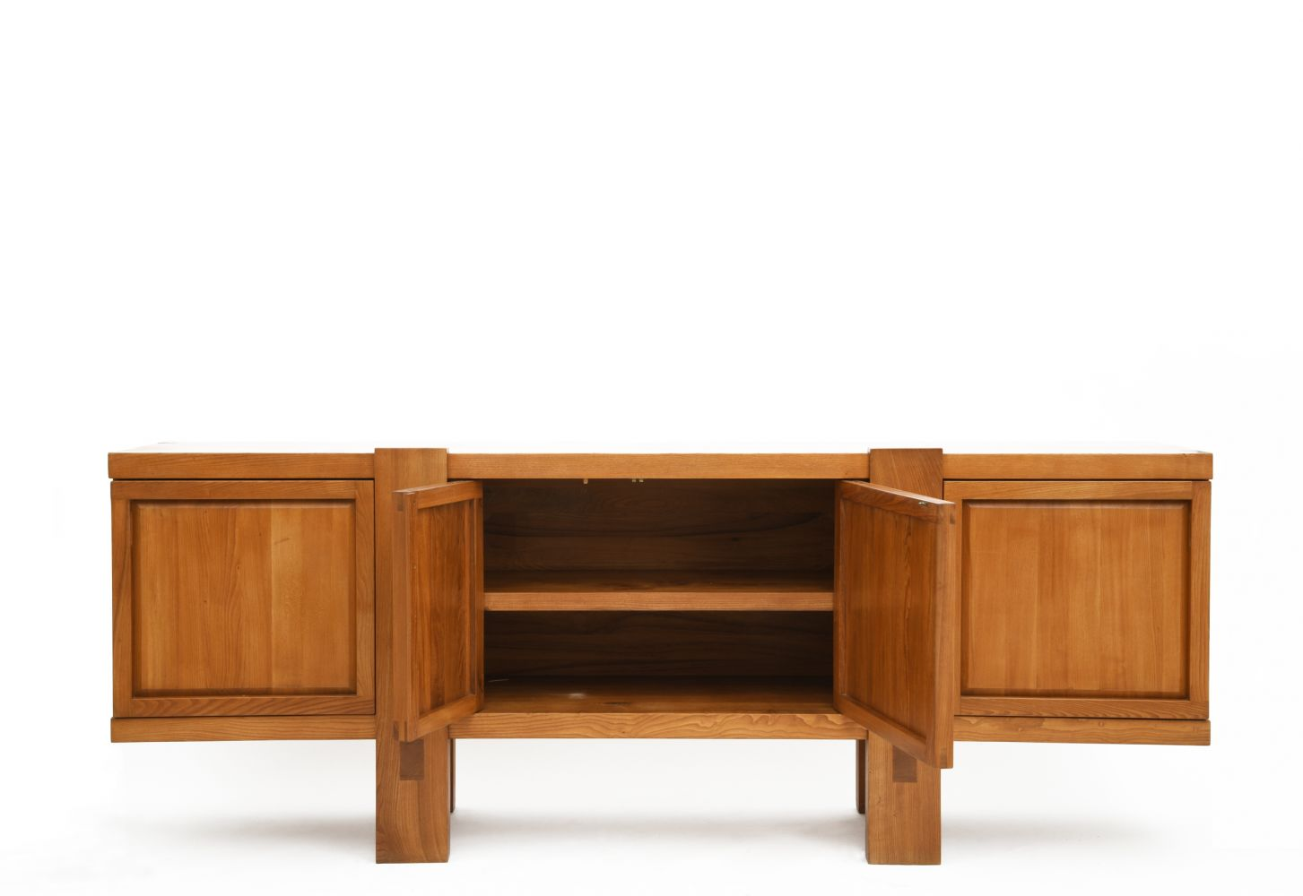 "Pierre Chapo - Full view of ""R16"" sideboard with doors open"