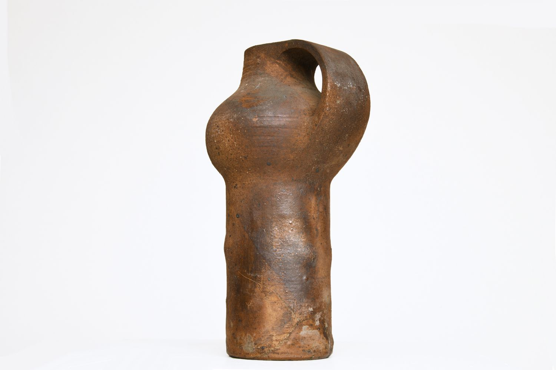 La Borne's ceramic pitcher, full back view