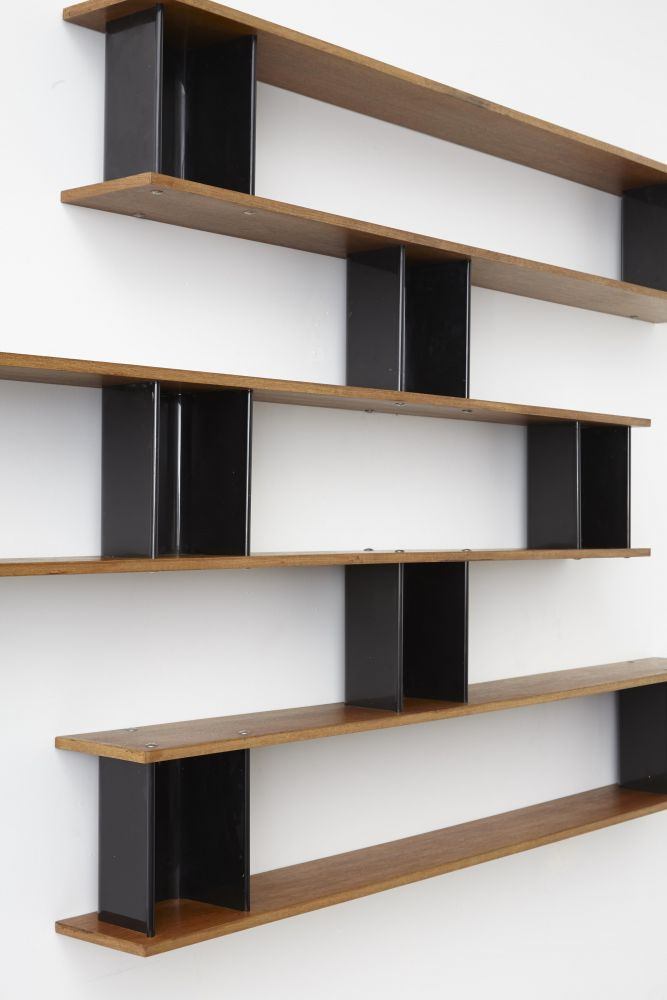 "Charlotte Perriand - Detail of ""Nuage"" wall shelving"