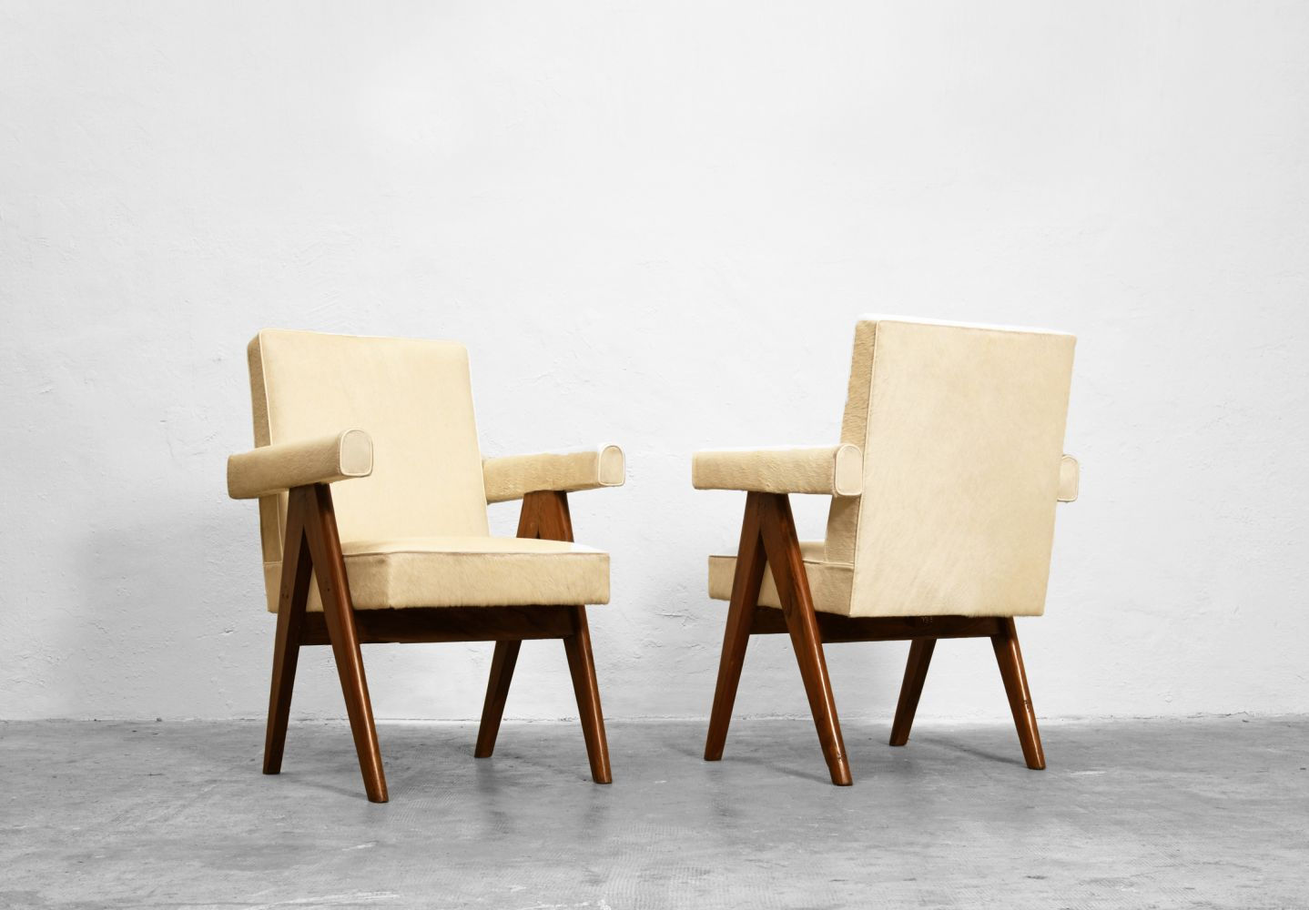 """Pierre Jeanneret - Pair of """"Committee"""" armchairs, c. 1953-54"""