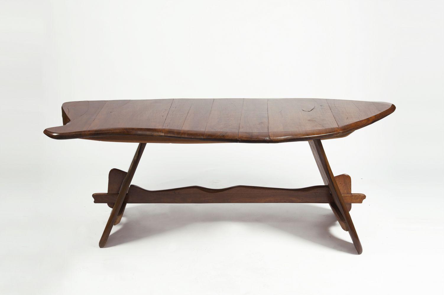 """Michel Chauvet - """"Poisson"""" sculptural desk, 1956"""