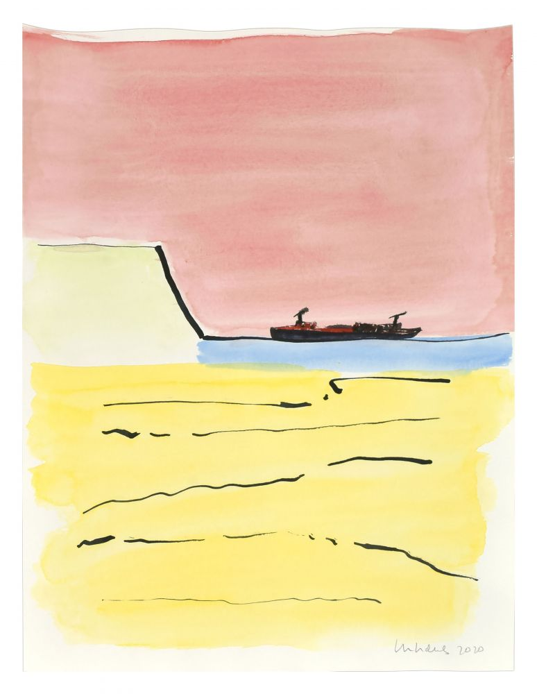 Image of Beach, Cliff, and Boat