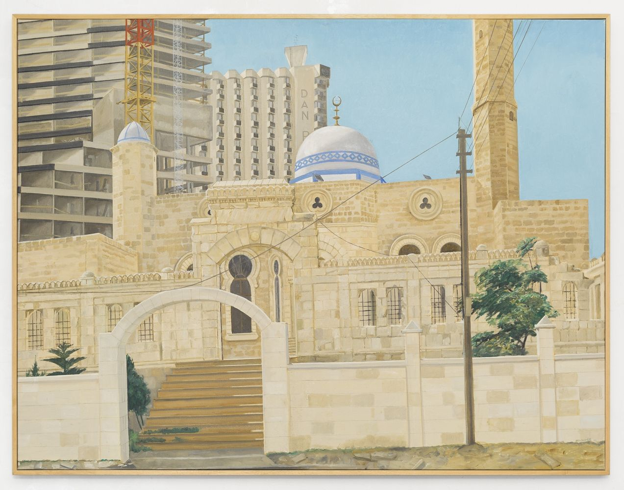 Image of Mosque and New Construction, Tel Aviv