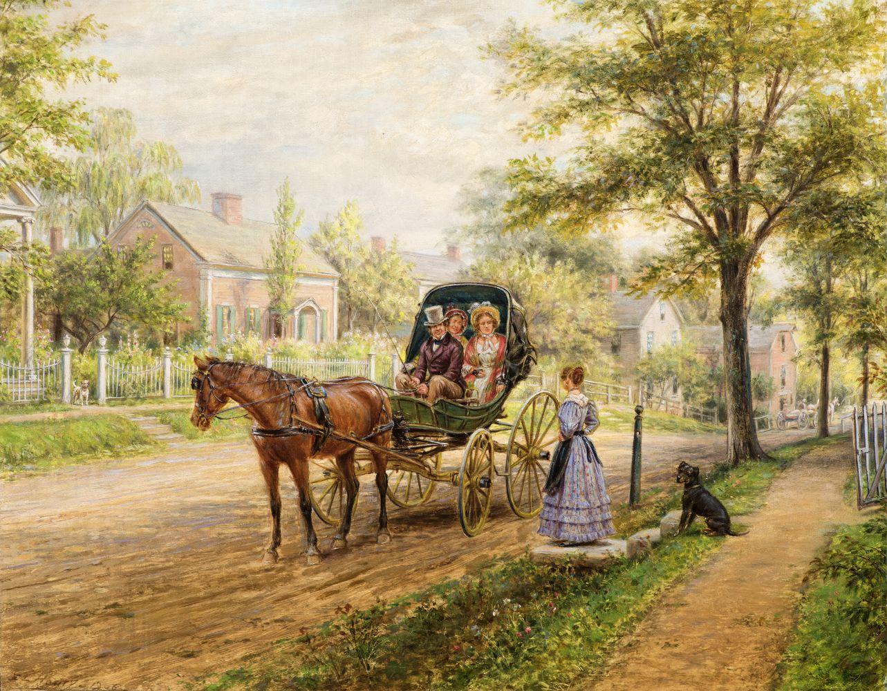 Edward Lamson Henry (1841–1919),  A Sunday Visit, 1906. Oil on canvas, 12 x 16 in.