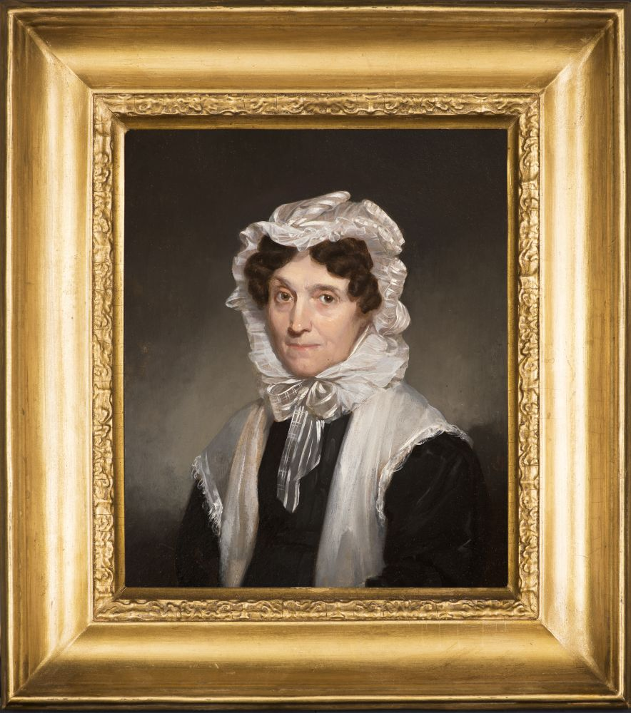 Samuel F. B. Morse (1791–1872), Mrs. Mary Fuller, 1829, oil on board, 11 x 9 in., inscribed on verso: Ӕtat. 57. / Septr.  1829 / S. F. B. Morse (framed)