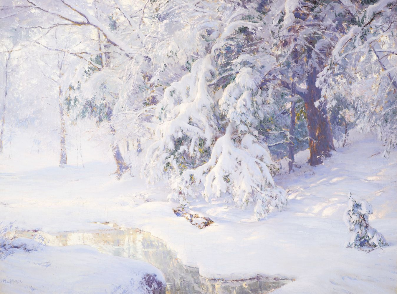 Walter Launt Palmer (1854-1932)  Winter Sunrise, 1913. Oil on canvas, 24 x 32 in. Signed lower left: W. L. Palmer