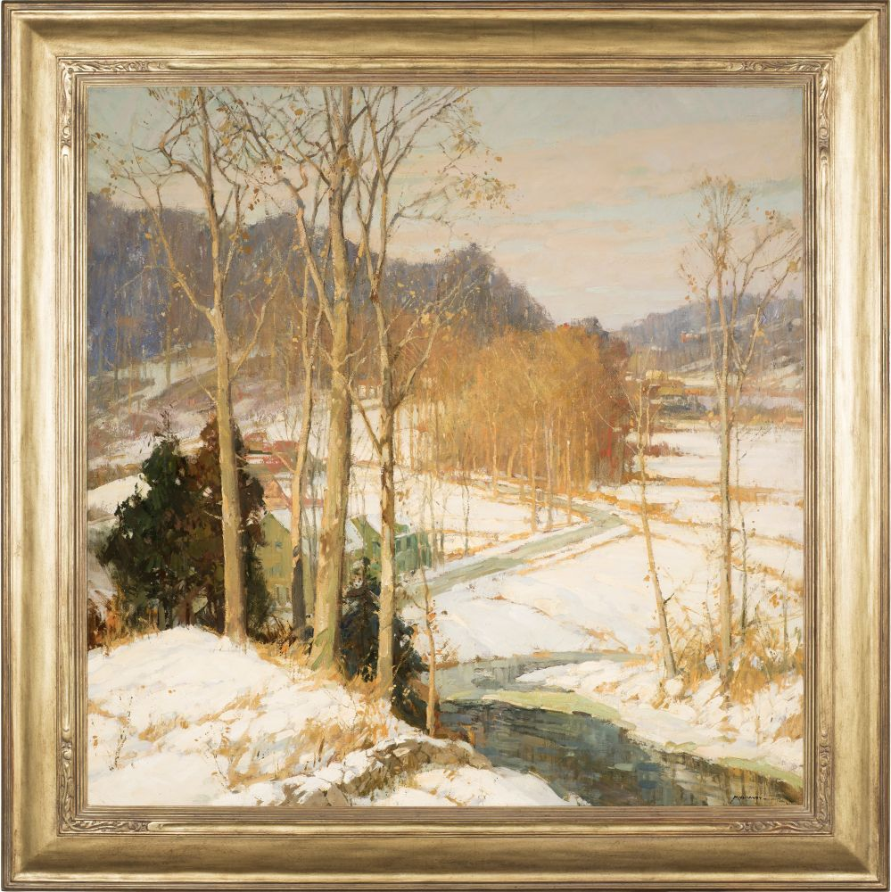 Frederick J. Mulhaupt (1871–1938), The Valley Road, c. 1925, oil on canvas, 36 x 36 in., signed lower right: Mulhaupt (framed)