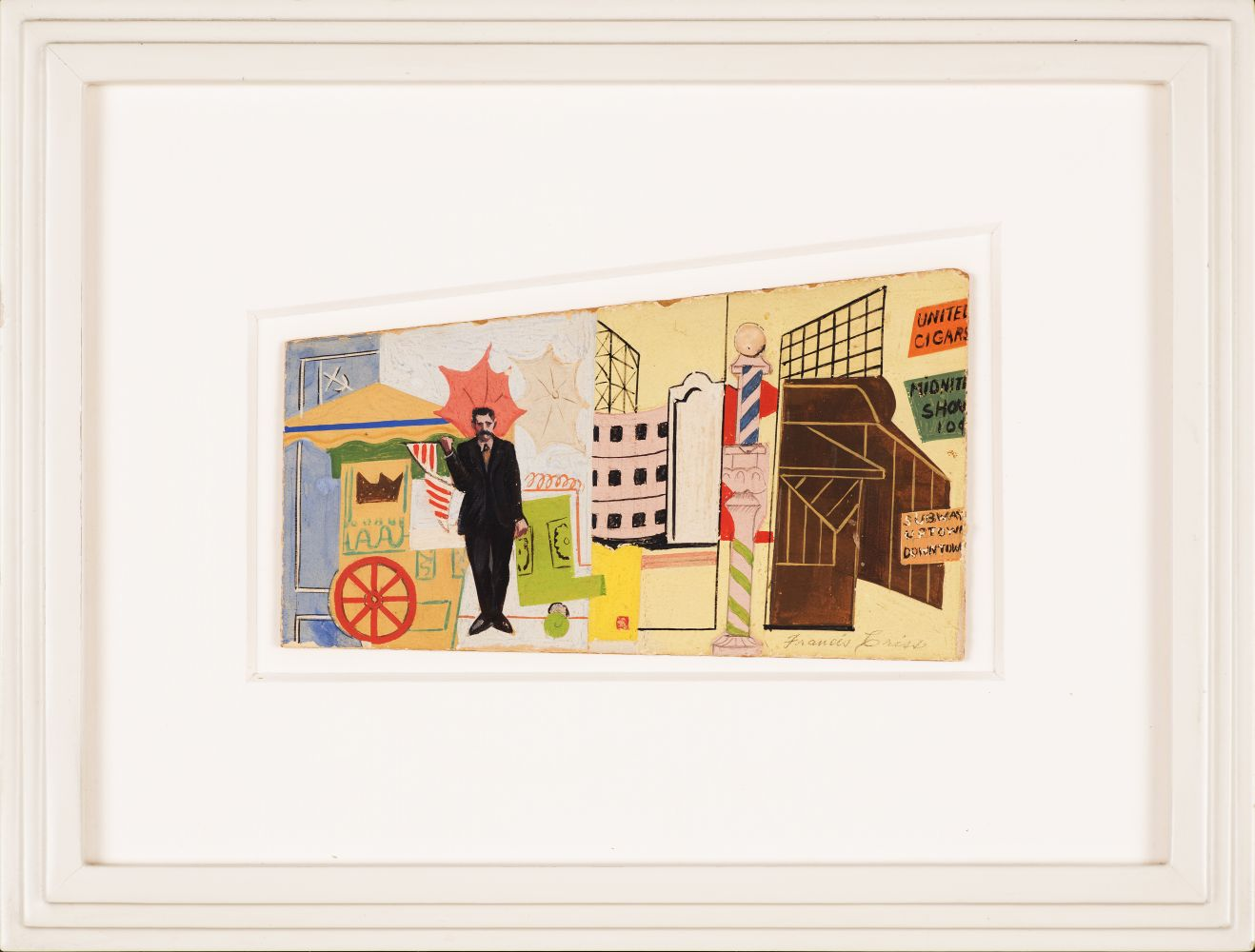 Francis Criss (1901–1973), Mural Study, c. 1930s, oil on artist board, 4 x 7 in., signed lower right: Francis Criss (framed)