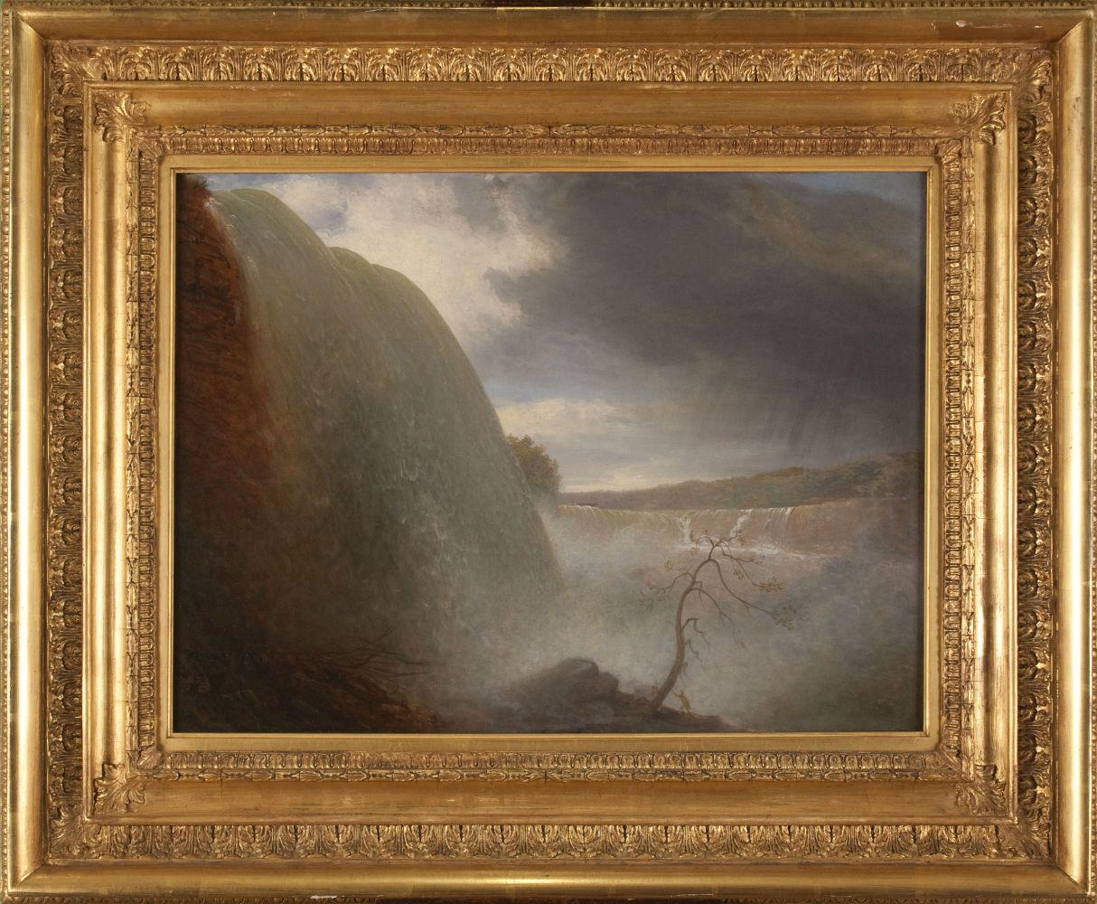 Rembrandt Peale (1778–1860), Falls of Niagara, Viewed from the American Side, 1831, oil on canvas, 18 1/4 x 24 1/8 in. (framed)