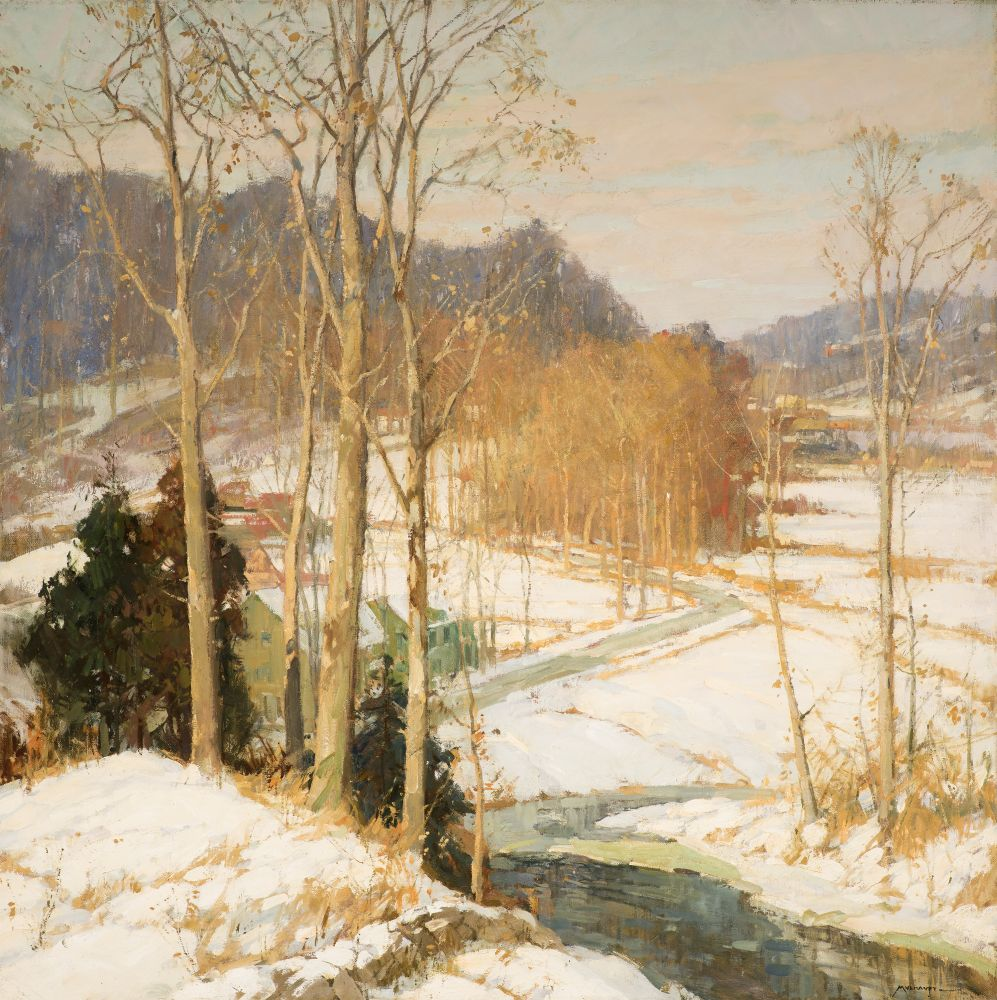 Frederick J. Mulhaupt (1871–1938), The Valley Road, c. 1925, oil on canvas, 36 x 36 in., signed lower right: Mulhaupt