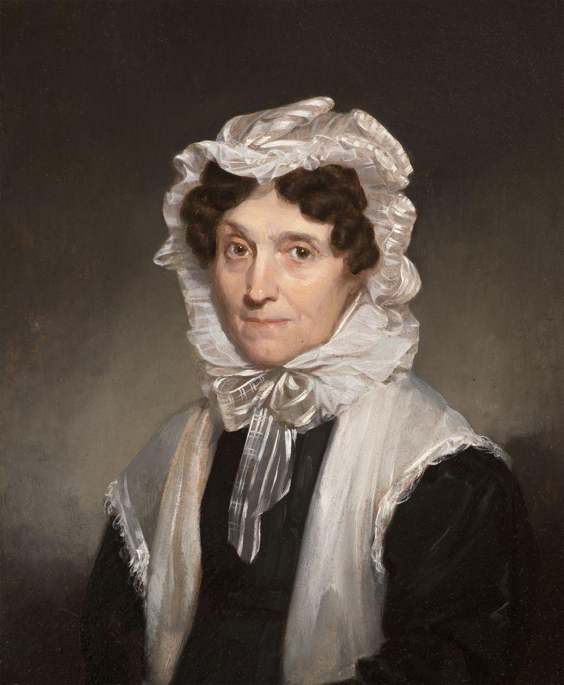 Samuel F. B. Morse (1791–1872), Mrs. Mary Fuller, 1829, oil on board, 11 x 9 in., inscribed on verso: Ӕtat. 57. / Septr.  1829 / S. F. B. Morse