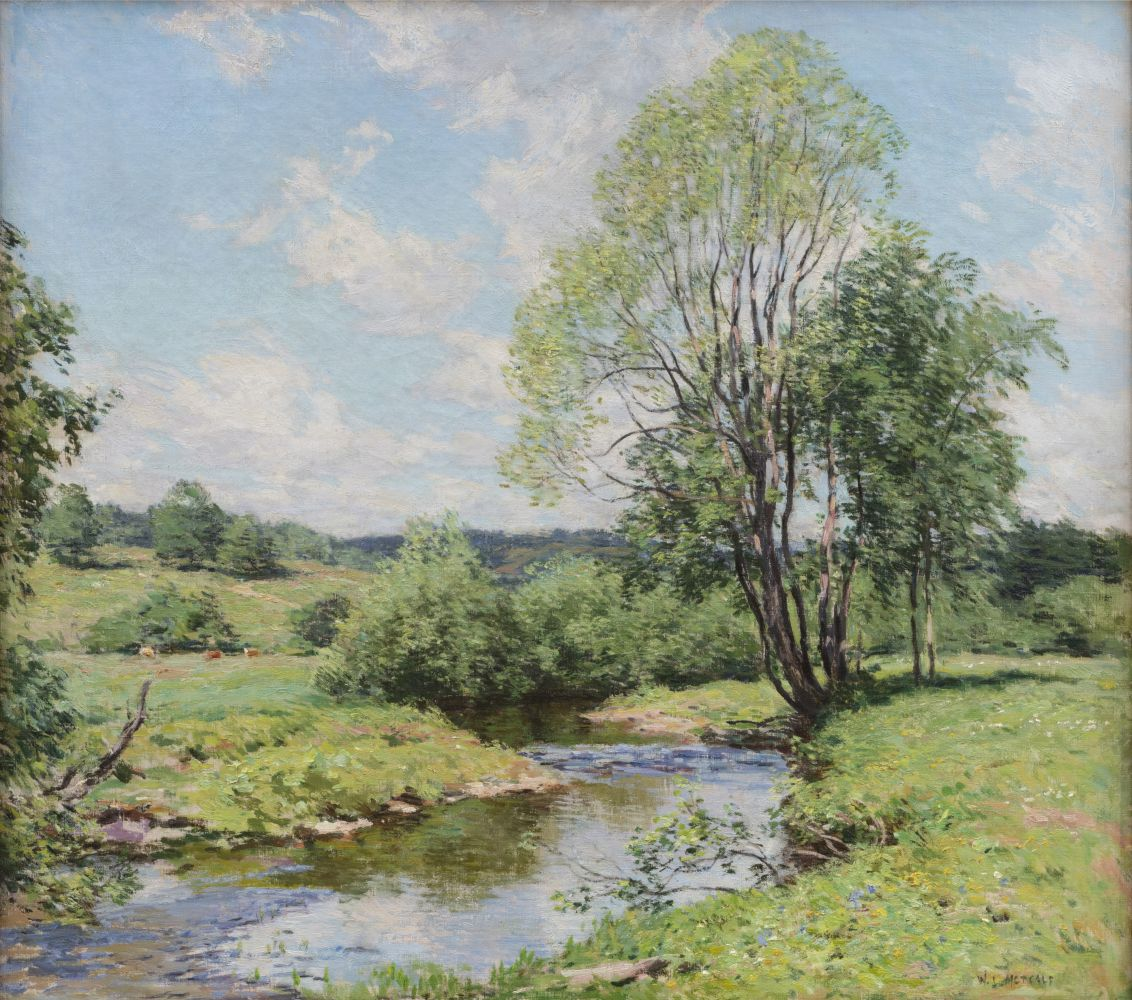 Willard Leroy Metcalf (1858–1925), Green Idleness, 1911, oil on canvas, 26 1/4 x 29 1/4 in., signed lower right: W. L. Metcalf