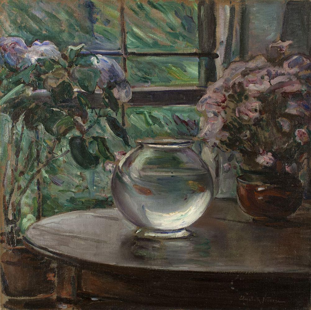 Elizabeth Nourse (1859–1938), Etude, Fleurs, 1911, oil on canvas, 26 x 26 in., signed lower right: Elizabeth Nourse