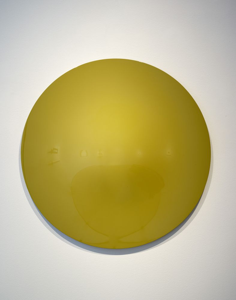 Vincent Szarek TBD (Yellow/Green No. 1 UFO), 2019 urethane on fiberglass d. 36 inches