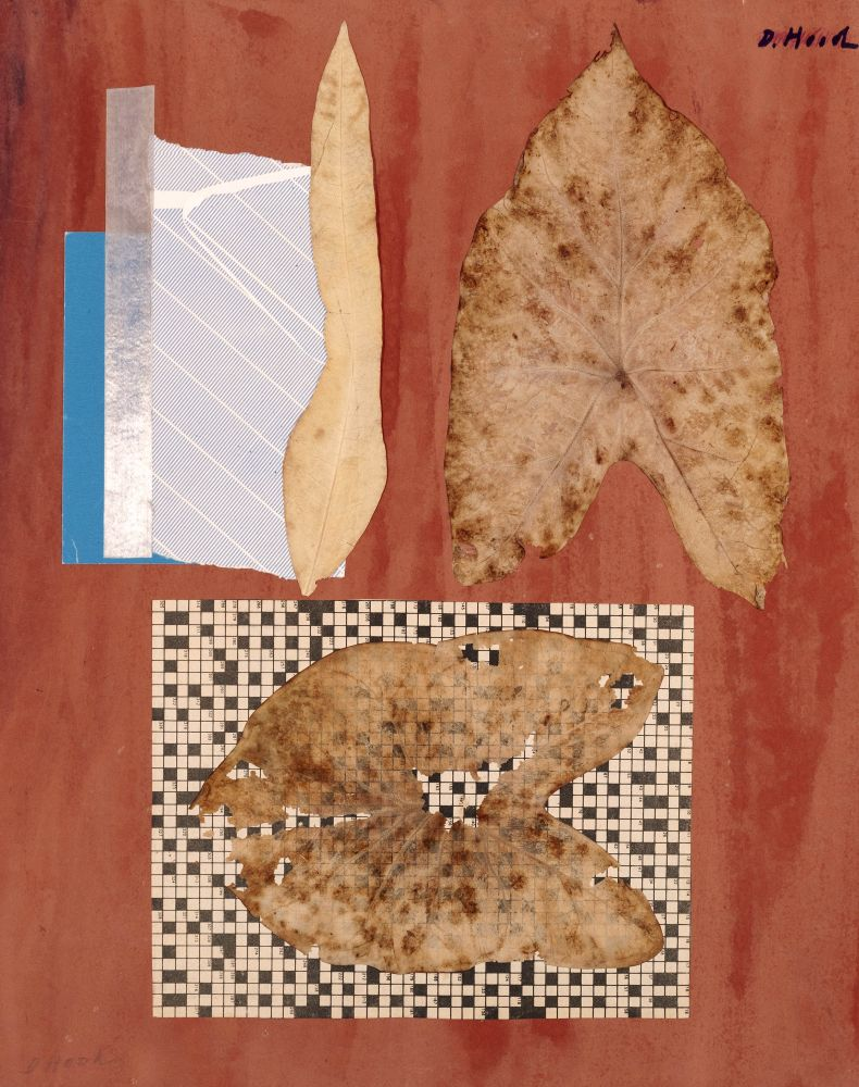 Dorothy Hood Thinned Leaves, c. 1980-90s collage on mat paper: 20 x 16 inches frame: 22 1/2 x 18 1/2 inches