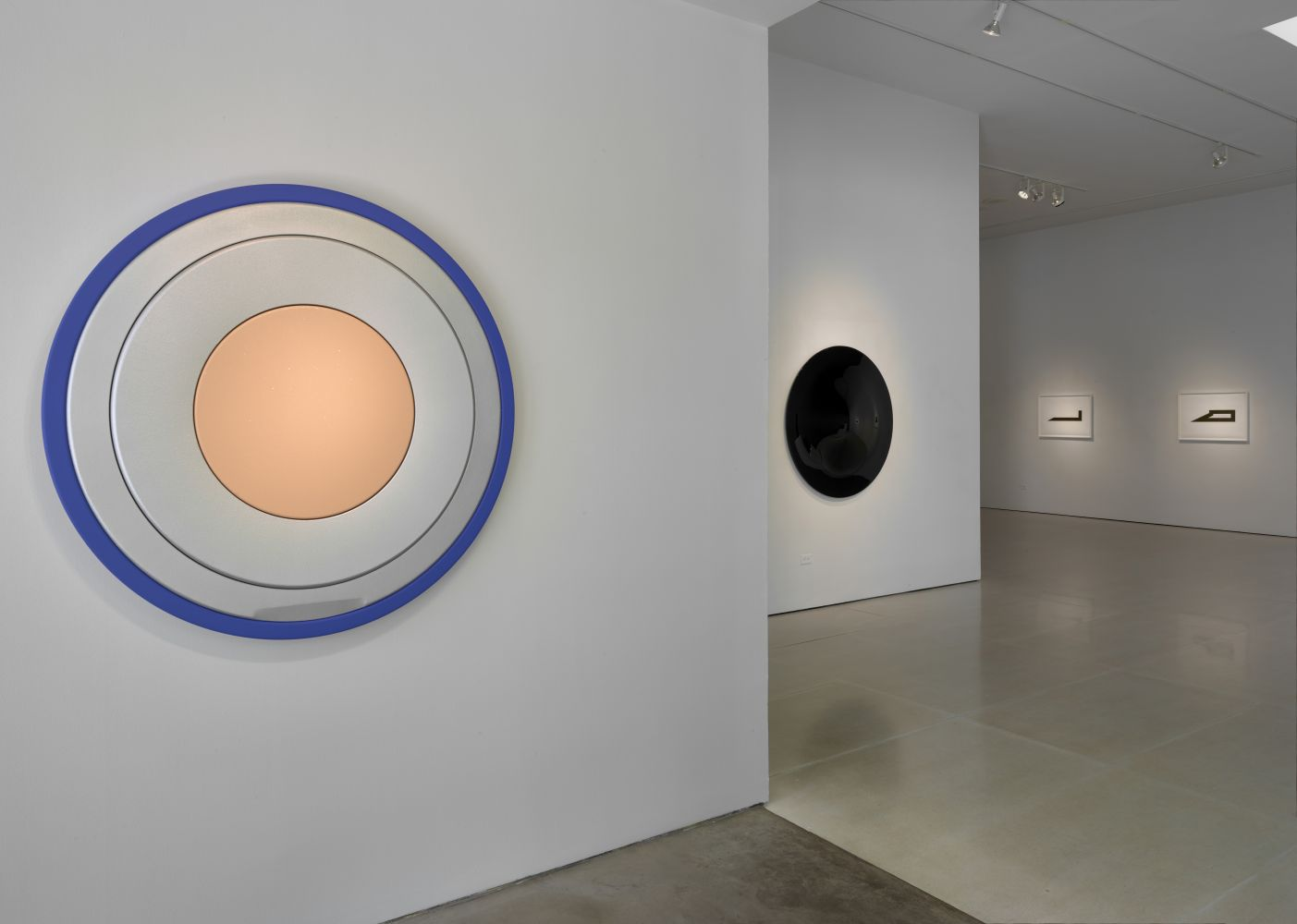 Installation view of Definition; front wall