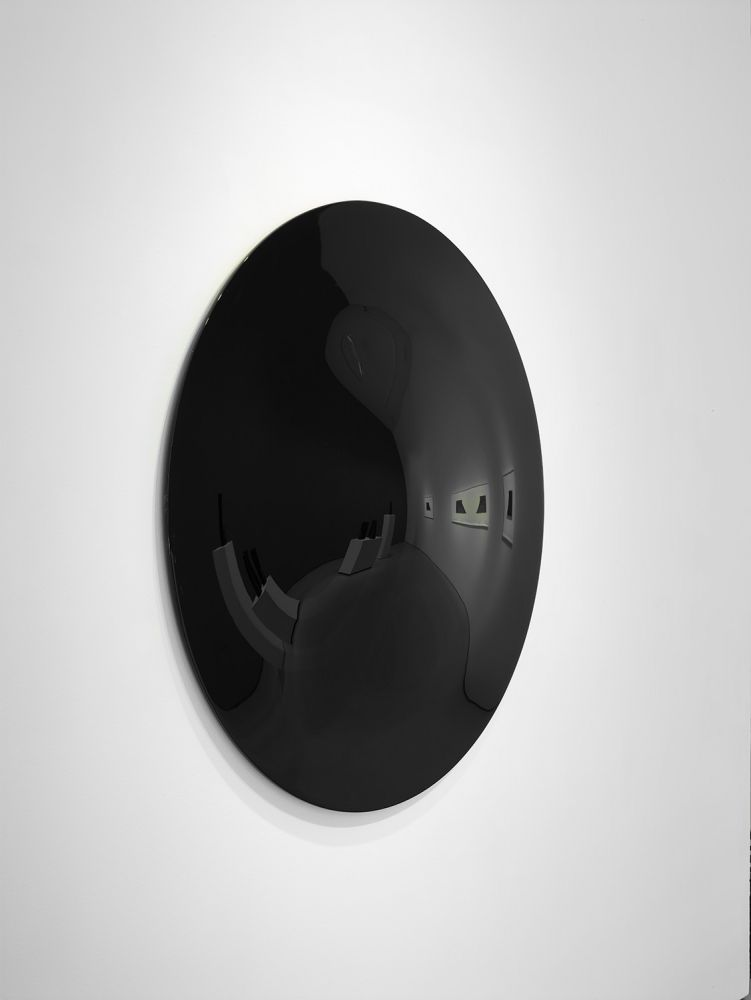 Vincent Szarek TBD (near black disk), 2020 urethane on fiberglass d. 48 inches