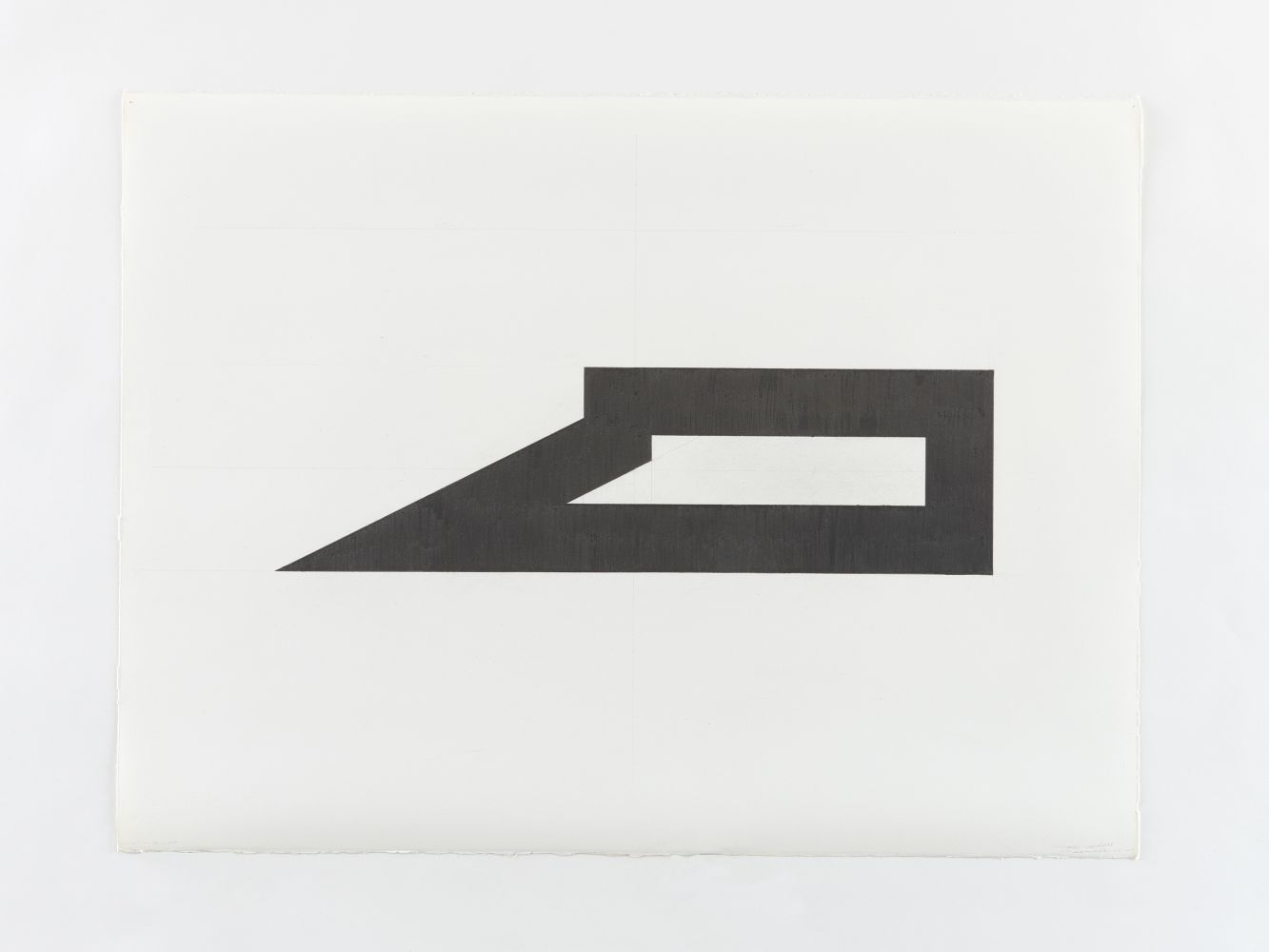 Ted Stamm LW-2H (Lo Wooster), 1979 graphite on paper 22 1/4 x 29 7/8 inches