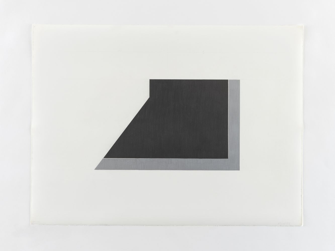 Ted Stamm 78-W-3D (Wooster), 1978 silver pencil and graphite on paper 22 1/4 x 29 7/8 inches