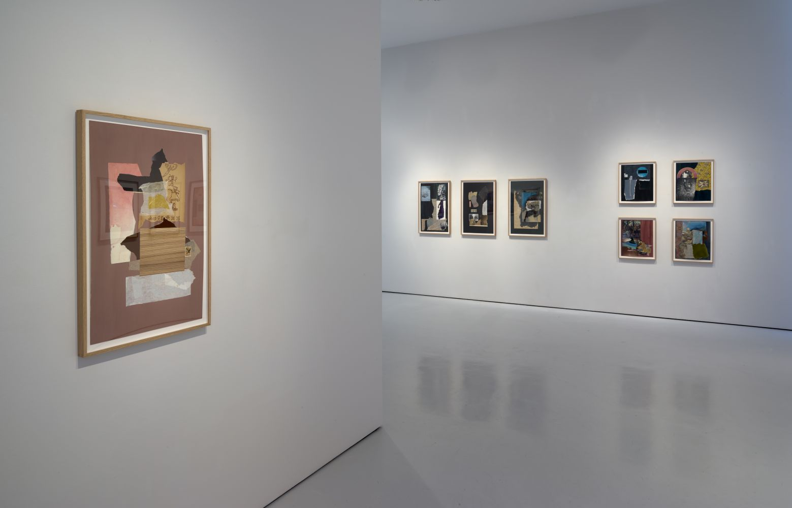 Installation view, Dorothy Hood: Collage, McClain Gallery, Houston, Texas, June 2020