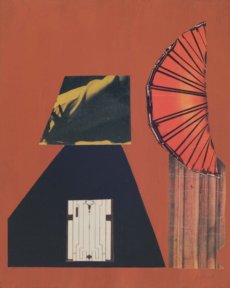 Dorothy Hood Glass Orange , c. 1980-90s collage on mat paper: 20 x 15 7/8 inches frame: 22 1/2 x 18 1/2 inches