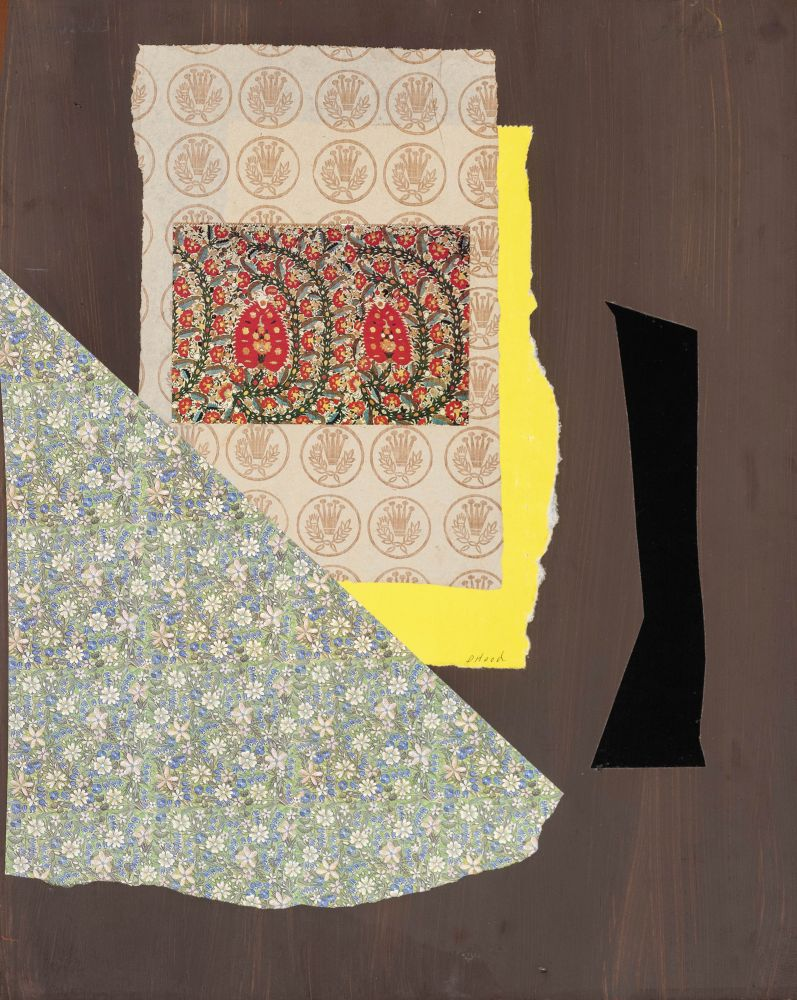 Dorothy Hood Binaki, Athens, c. 1980-90s collage on mat paper: 20 x 16 inches frame: 27 x 22 inches