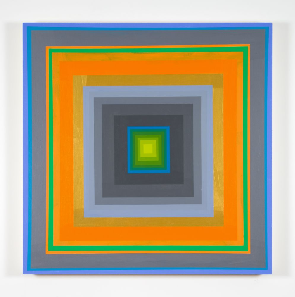 Gary Lang  CONCENTRICSQUARE, 2019  acrylic on panel  30 x 30 inches  $35,000