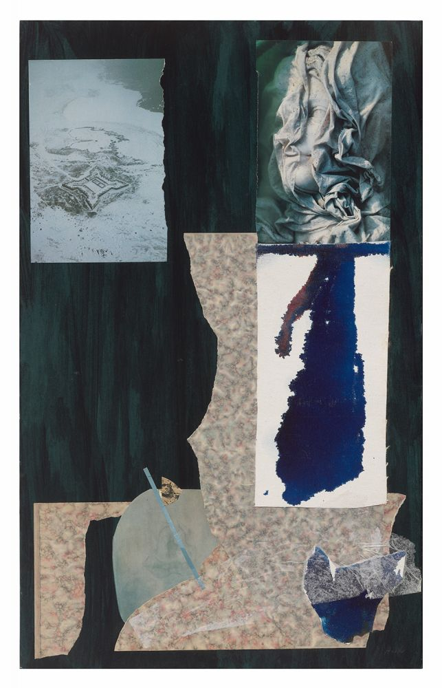 Dorothy Hood Waiting for the Word Snow, c. 1980-90s collage on mat paper: 32 x 19 7/8 inches frame: 34 3/4 x 22 3/4 inches