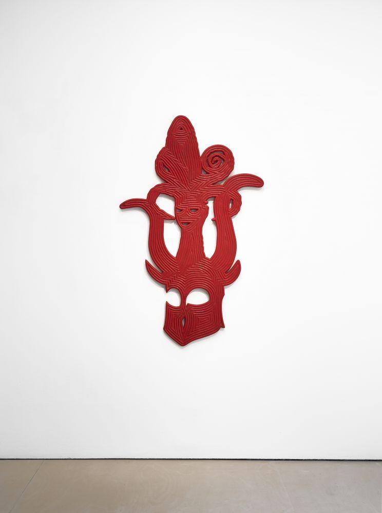 Bo Joseph Catching Ghosts: Anima/Animus, 2020 casein and acrylic on resin, fiberglass and foam 60 x 37 1/2 x 1 1/2 inches