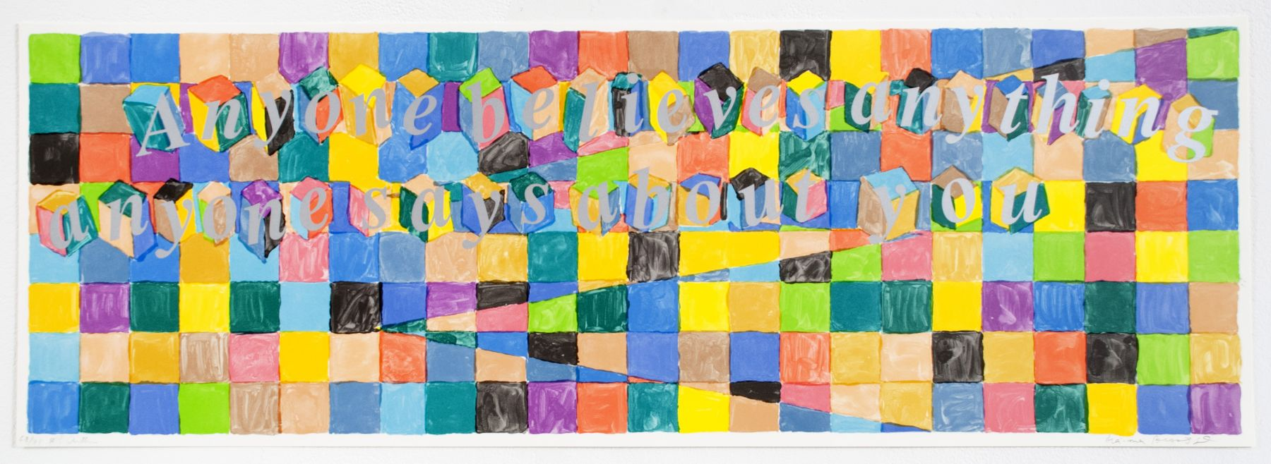 Richard Tuttle Untitled (Poetry Project Print), 1991