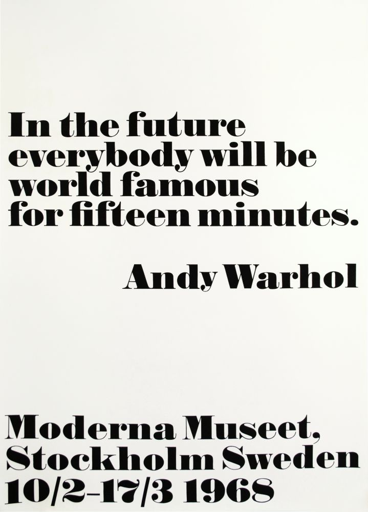 Andy Warhol In the Future...