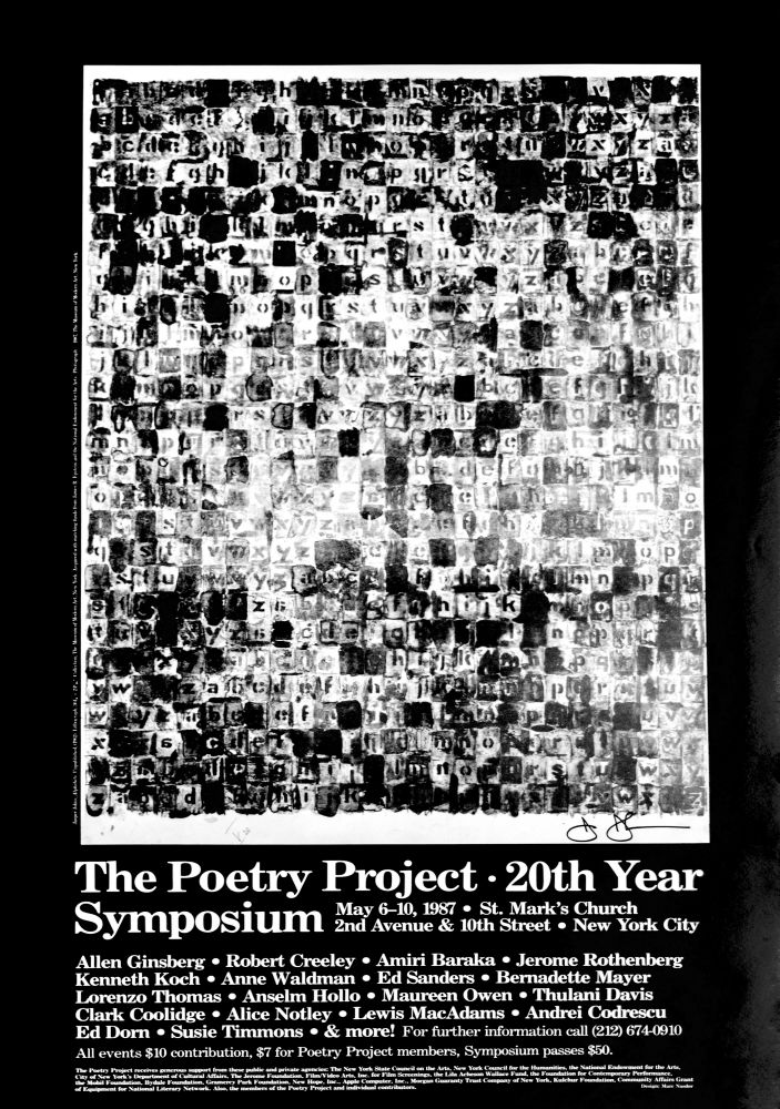 Jasper Johns The Poetry Project 20th Year Symposium