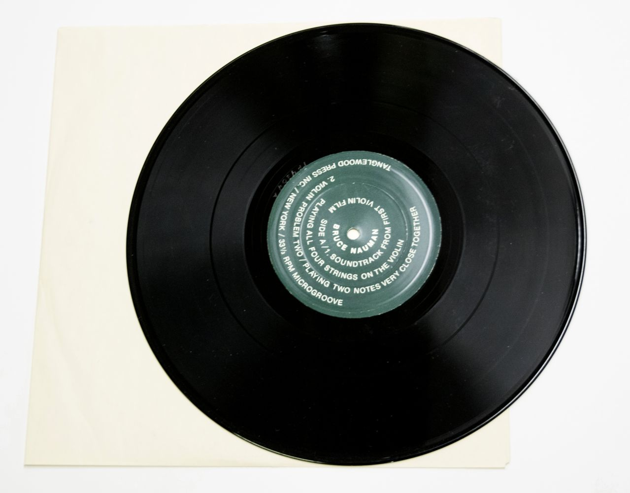 Bruce Nauman Record