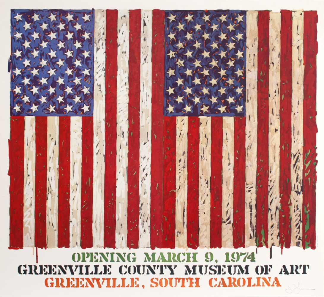 Jasper Johns Greenville County Museum of Art Poster, 1974