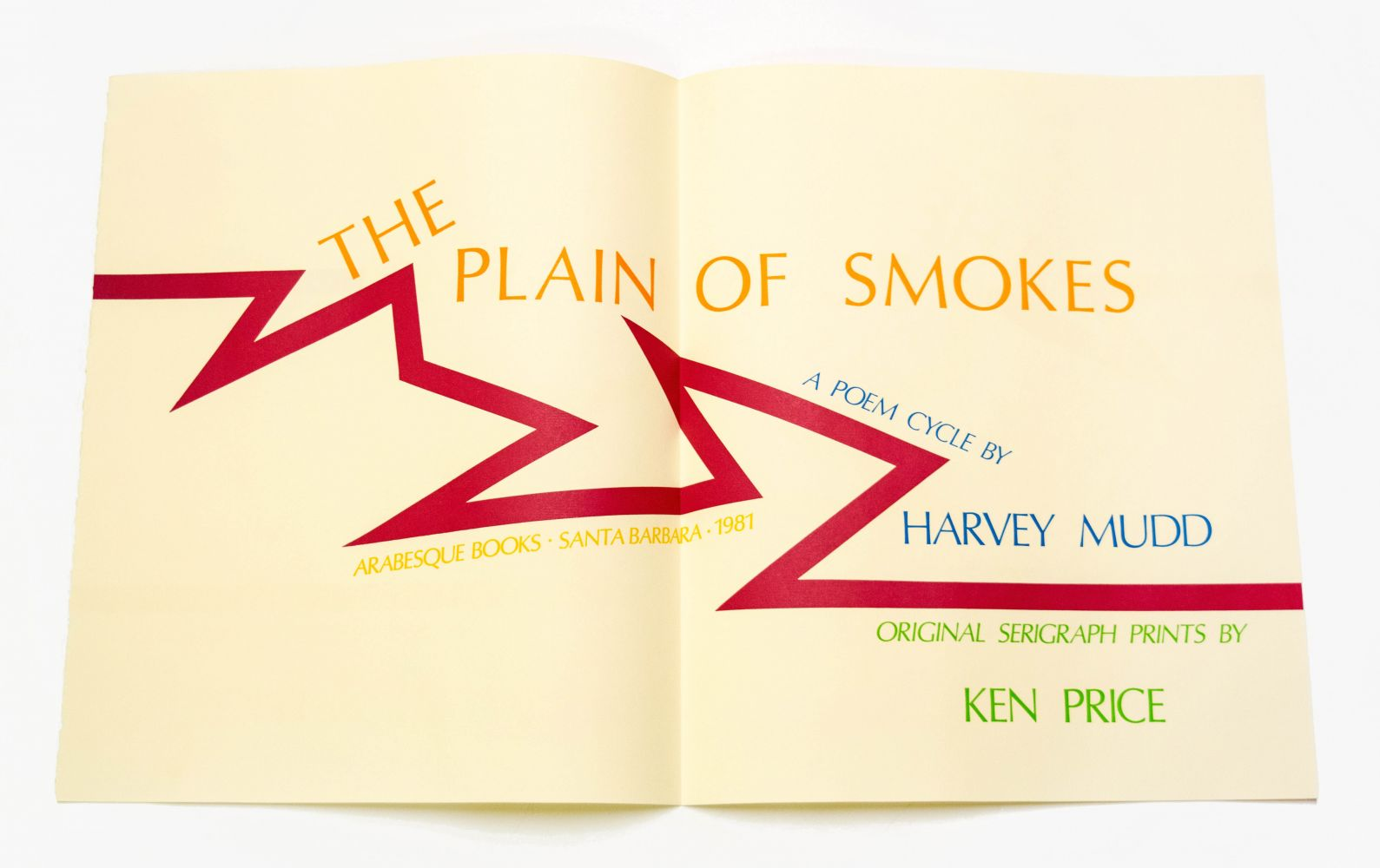 Kenneth Price and Harvey Mudd Plain of Smokes, 1981