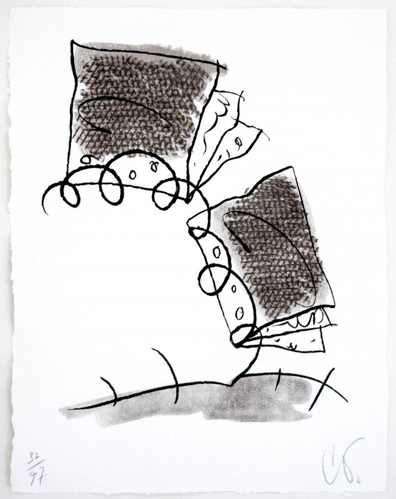 Claes Oldenburg Notebook Torn in Half, 1997