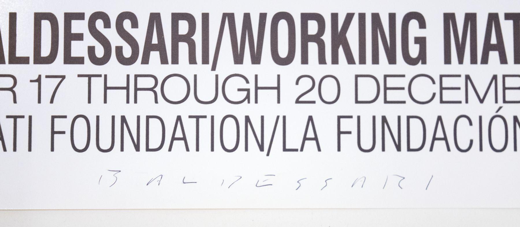John Baldessari Working Materials detail
