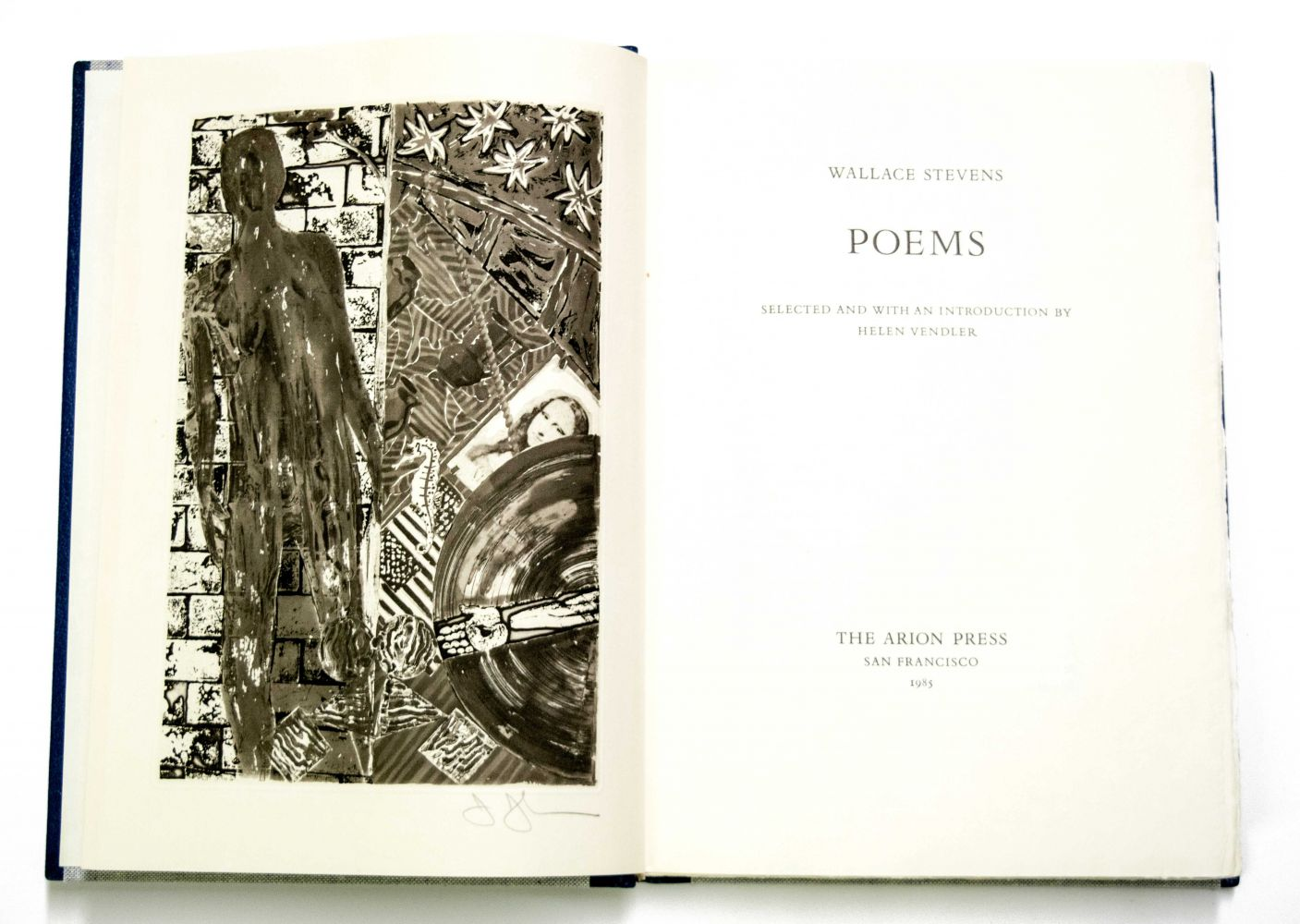 Jasper Johns and Wallace Stephens Poems by Wallace Stephens (with print by Jasper Johns), 1985