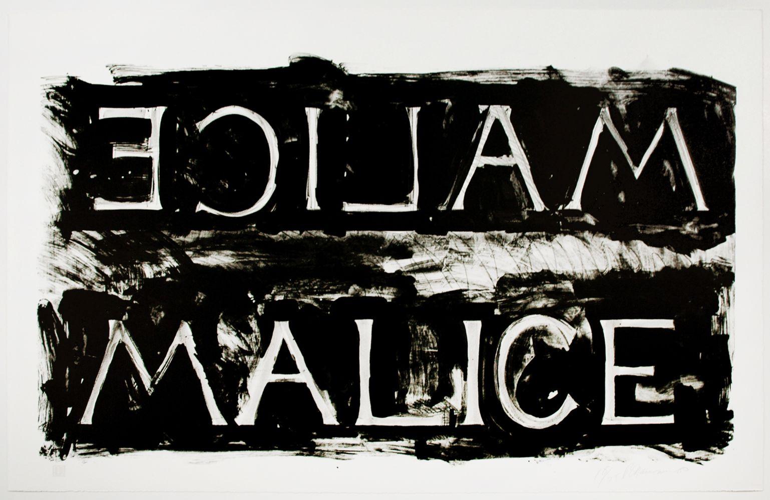Bruce Nauman: Malice, 1980