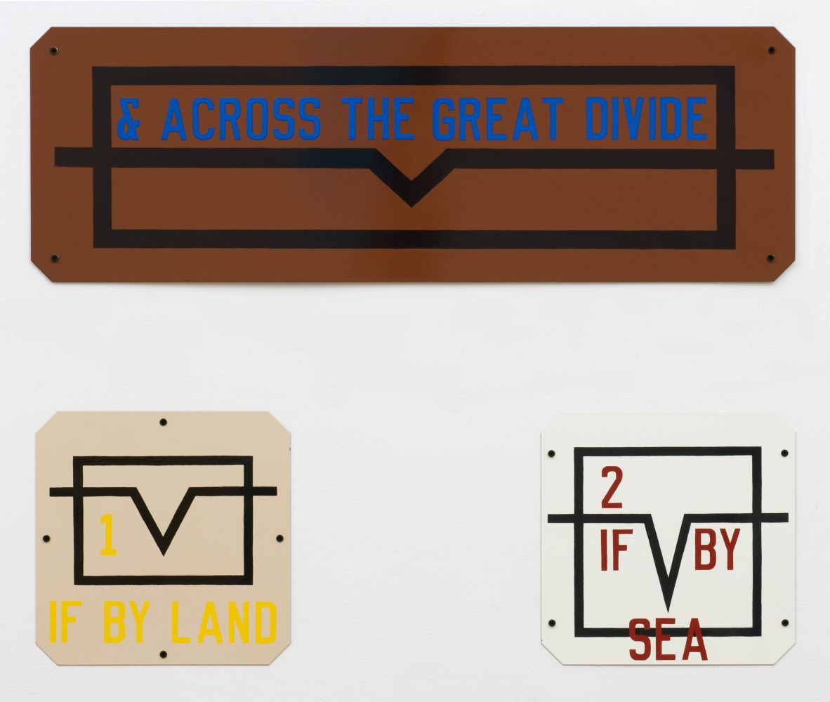Lawrence Weiner & Across the Great Divide