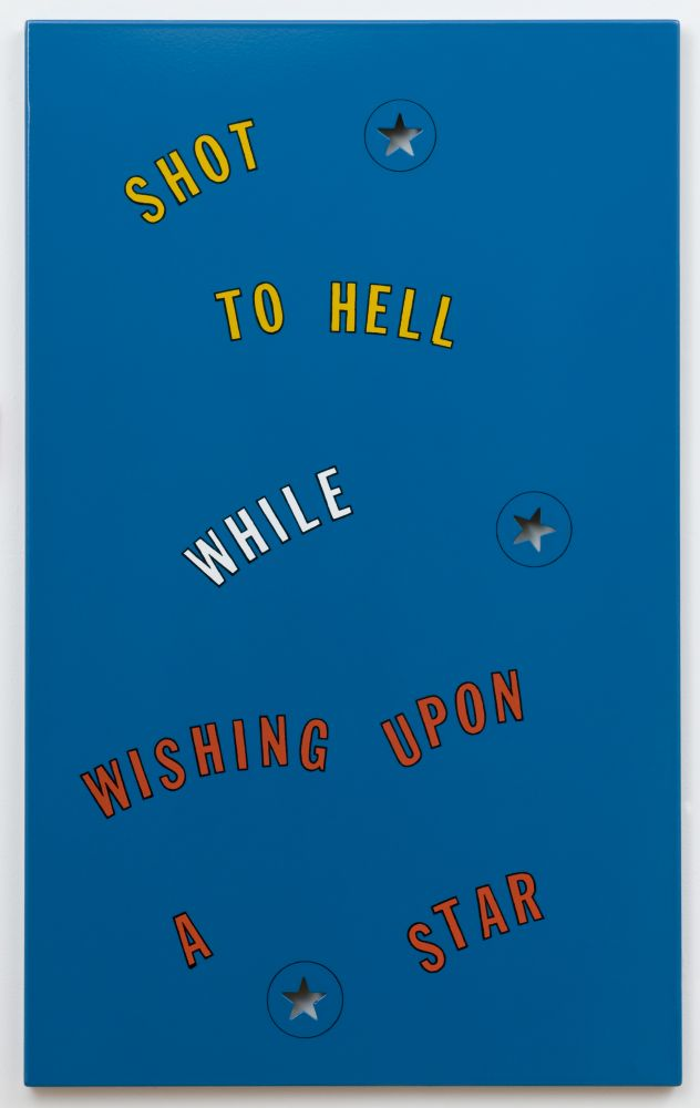Lawrence Weiner Shot to Hell..., 1996