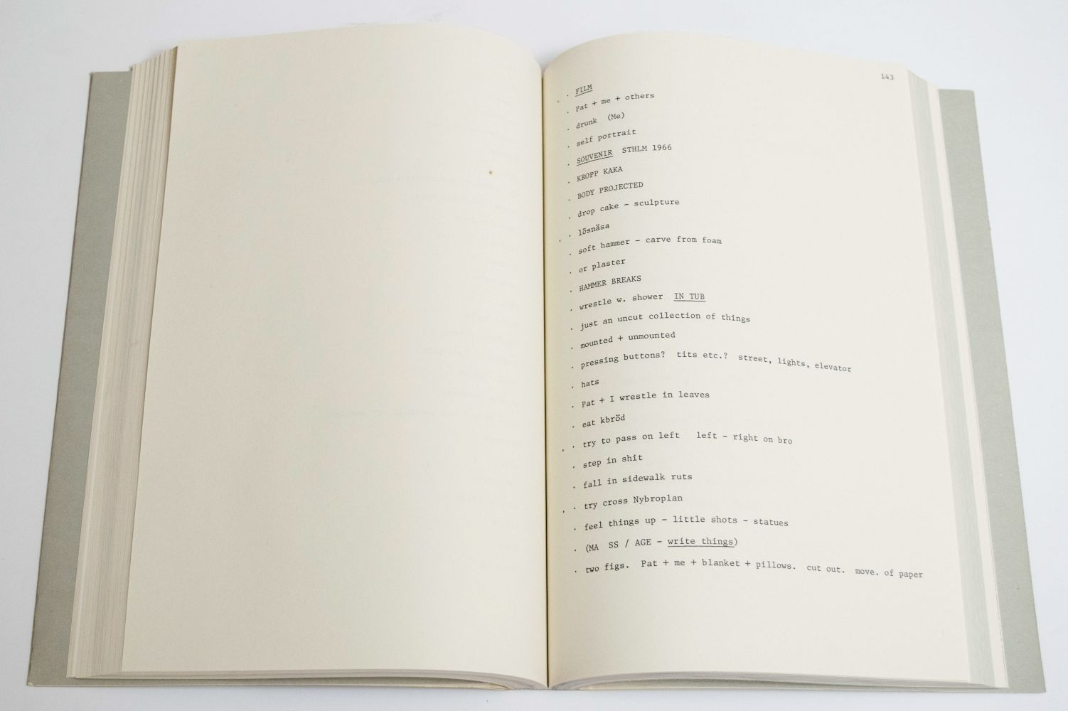 Claes Oldenburg Raw Notes, 1974 reprinted in 2005