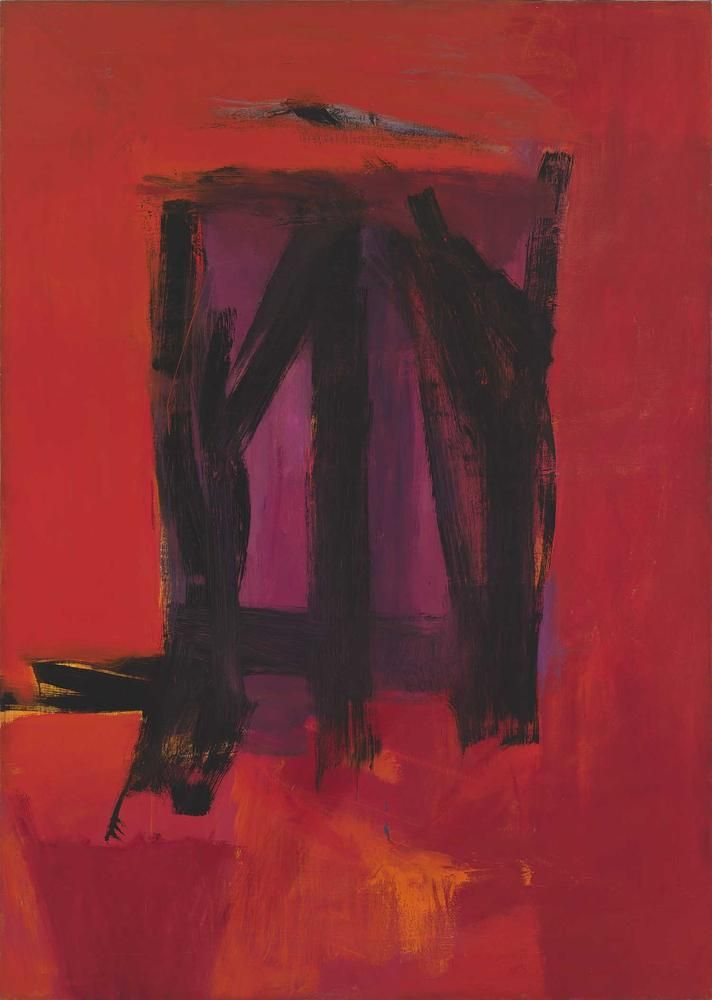 Franz Kline Red Painting 1961 oil on canvas 109 13/16 x 78 1/8 inches (278.9 x 198.4 cm)  Whitney Museum of American Art, New York  Gift of the American Contemporary Art Foundation, Inc., Leonard A. Lauder, President