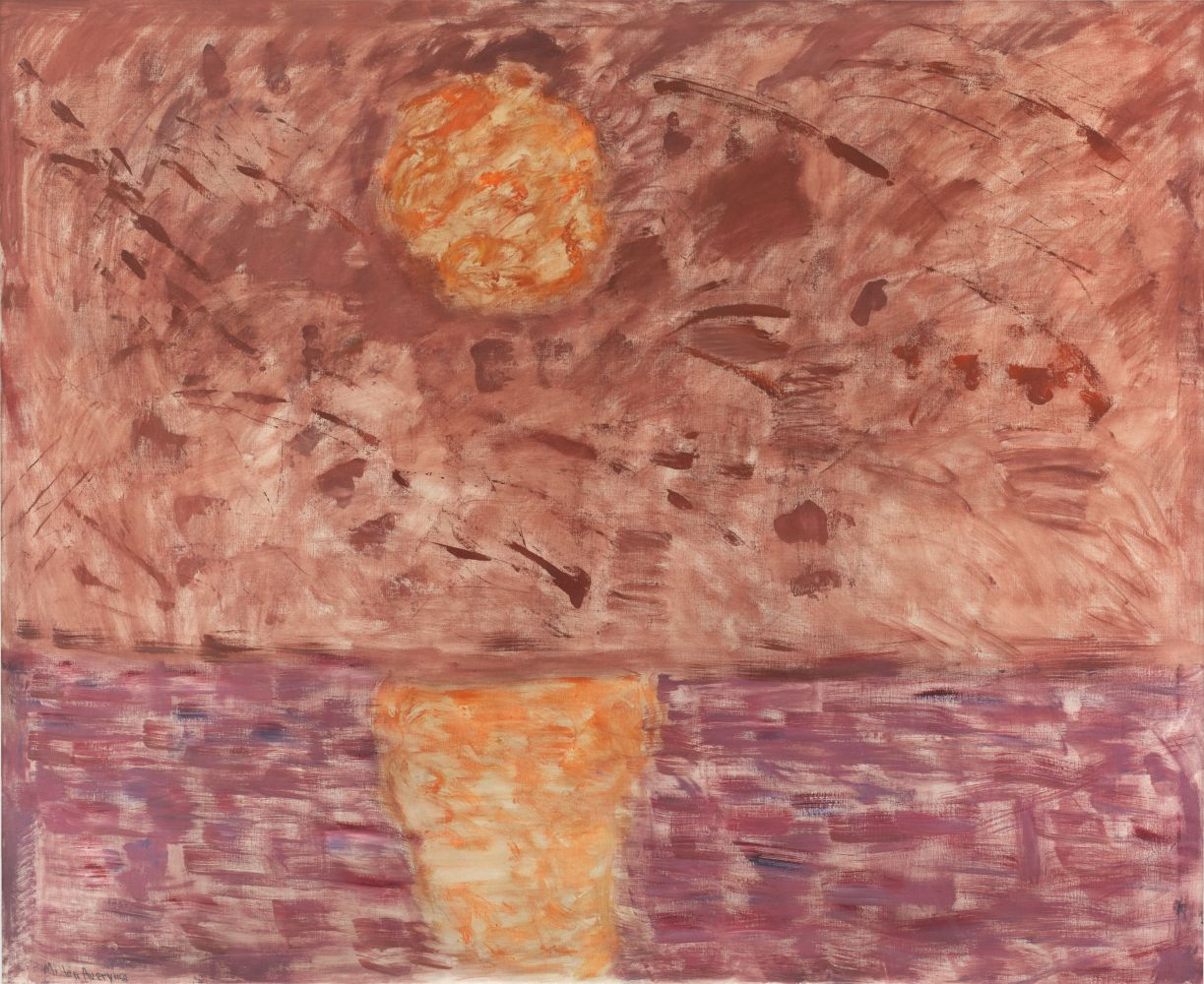 Milton Avery Hot Moon 1958 oil on canvas 56 x 66 inches (142.2 x 167.6 cm)