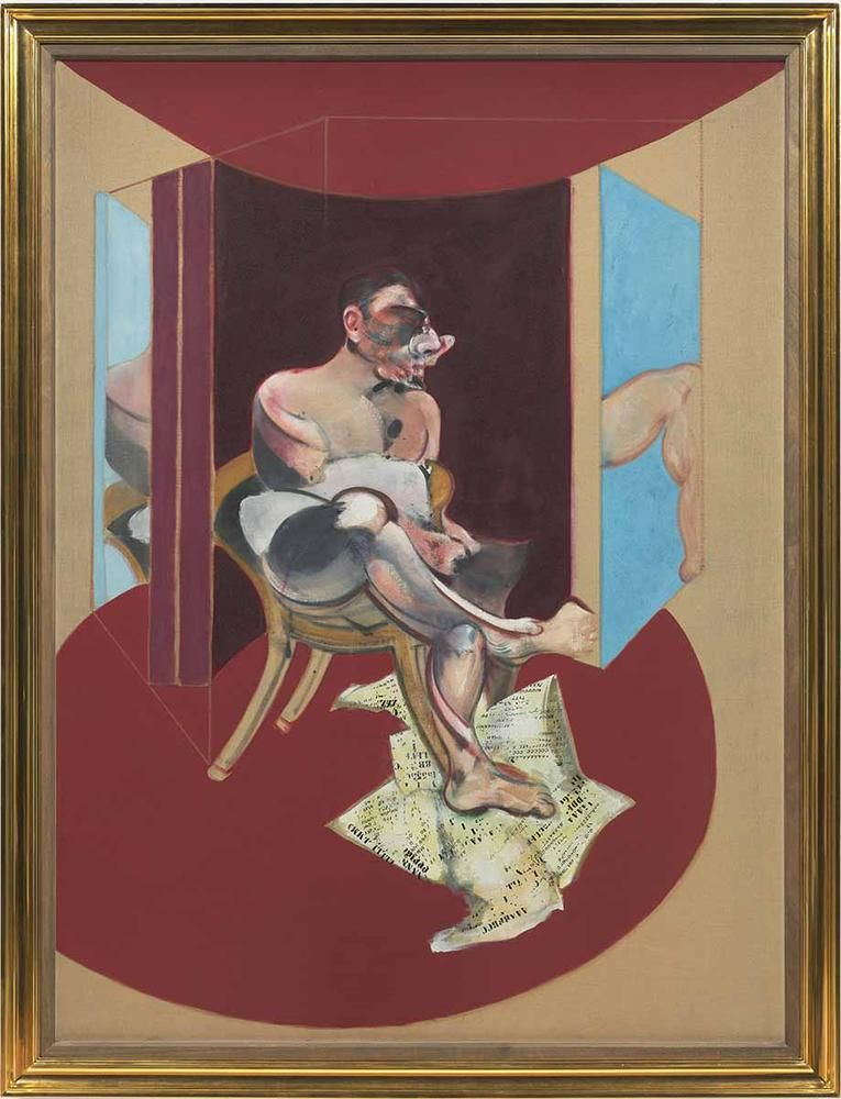 Francis Bacon Study of George Dyer 1971 oil on canvas 78 x 58 inches (198.1 x 147.3 cm)  Private collection